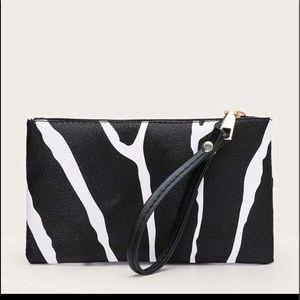 Handbags - Two Tone Clutch Bag With Wristlet